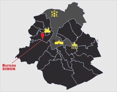 Carte ville de Bruxelles